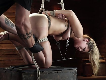 BDSM and a slave role is amazing experience for blonde Alina Lopez