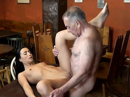 Old man fuck anal and young kissing arch time saw his