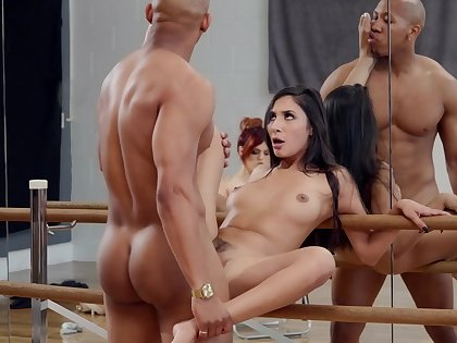 Molly Stewart watches as dancer Gianna Dior fucks for a lead role