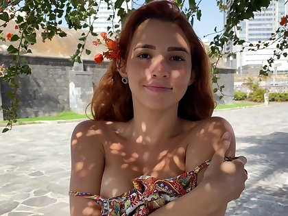 Young model Agatha shows perky tits with yummy pierced nipples