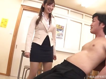 Video of Japanese tutor Makoto Sae getting fucked after class